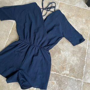 Leith Nordstrom Romper Navy Blue